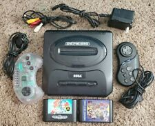 New listing Sega Genesis System Console W/ Cables / Controllers + 2 Games Tested
