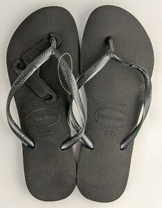 Havaianas Women's Thongs Black Size 39/40 NEW