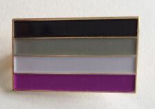 Asexual Pride Flag Rectangular Enamel Pin Badge