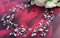 Wedding Hair Vine Bridal Headpiece Crown Bridesmaid Flower girl Prom boho UK