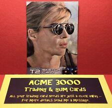 Unstoppable - Terminator 2 T2 - B C HEPNER - Sketch Card - SARAH CONNOR