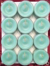 PartyLite Home By The Sea Tealight Candles V04297 New Nib Crisp Ocean Aqua Blue