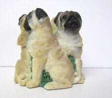 2002 Circle Pug Dogs Box Bone Inside