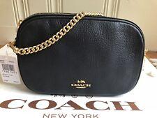 NWT COACH F29000 ISLA CHAIN CROSSBODY Shoulder Bag Pebble Leather Gold/Midnight