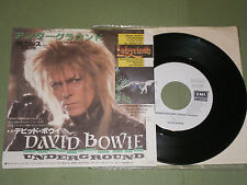 david bowie underground japanese single white label promo (not picture disc)