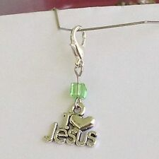 I Love Jesus Zipper Pull, Lanyard Bracelet Or Key Chain Charm wwjd