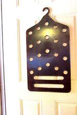 Vintage Scarf Belt Tie Closet Organizer Amber Plexiglas