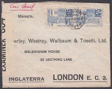 1940 Portugal, Porto Airmail / Censor to London, England
