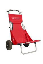 Red Beachmate Beach carry all the gear Trolley and then a seat FREE POSTAGE