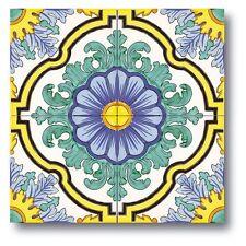 Piastrelle 20x20 Decorate A Mano ceramica Vietri 1 Mq.consegna 7gg Lavorativi