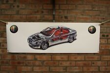 Alfa romeo 156  large pvc  WORK SHOP BANNER garage man cave SHOW