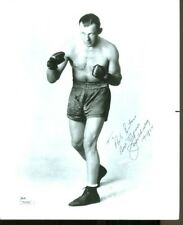 Jack Sharkey Signed Photo 8x10 Autographed Boxing JSA T50944