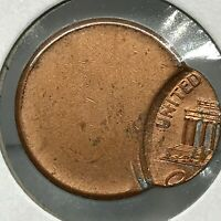 ND- LINCOLN WHEAT CENT 90%  OFF CENTER ERROR UNCIRCULATED COIN.