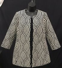 3 Sisters Jacket. Black & White open jacket. Size Small. New with tags.
