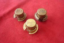3 Brass Aladdin Wick Cleaners, one marked Aladdin