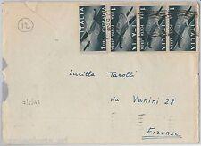 57123 - REPUBBLICA - STORIA POSTALE: POSTA AEREA su BUSTA 1946