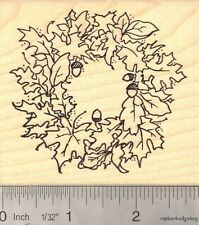 Autumn Wreath Thanksgiving Rubber Stamp  L14801 WM