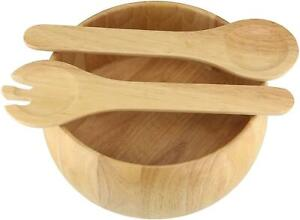 3pc Wooden Salad or Fruit Bowl Set with 2 Servers