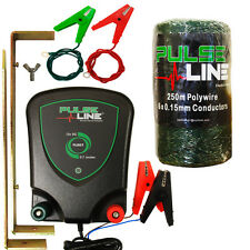 ELECTRIC FENCE ENERGISER PulseLine PLB07 0.7J 250m Green Fencing Poly Wire