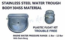 AUTO PLASTIC FLOAT STAINLESS STEEL BOWL WATER TROUGH 4 DOG SHEEP COW CHICKEN