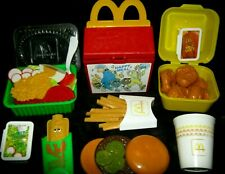 FISHER PRICE Fun Play food McDonald's HAPPY MEAL chicken NUGGETS garden SALAD ++