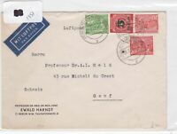 German Postal History Stamps Cover 1951 Ref 8728