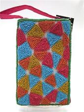 BAMBOO TRADING Beaded Club Clutch or Shoulder Tailgate Bag  Mosaic Pattern ~ New