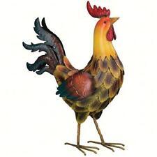 Tuscan Rooster Decor 21 inch Large Metal Yard Art