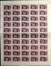 VIETNAM HO CHI MINH 1946 26-27 FULL SHEET Cathedral DAN CHU CONG HUA CUU DOI R