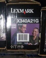 X340A11G X340A21G Genuine New Lexmark Black Toner X340 X342 !