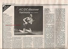 AC/DC Los Angeles concert review 1979 UK ARTICLE / clipping