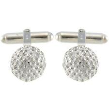 Heavy Sterling Silver Golf Ball Cufflinks