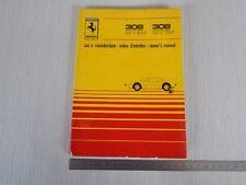 MANUALE USO MANUTENZIONE ORIGINALE 1980 Ferrari 308 gtb i gts i gtbi gtsi
