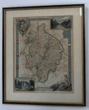 Old Framed Map Of Warwickshire