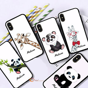 Personalised Name Panda Giraff Phone Case  for Apple iPhone Samsung Galaxy #27