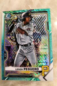 Liover Peguero Aqua Shimmer Refractor 116/125 - 2021 Bowman Baseball - Pirates