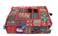 """22X22X5"""" Square Multi Patchwork Cushion Cover Decorative Handmade Pillow Covers"""