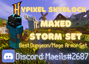 Hypixel Skyblock Maxed Storm's Armor Set  ✅ Cheap. Fast Delivery, & Secure!