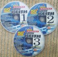 TOBY KEITH COUNTRY KARAOKE CHARTBUSTER BEST OF 50 SONGS 5060 CD+G NEW