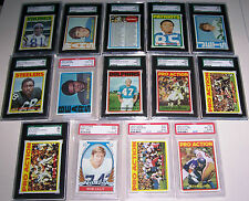 1972 TOPPS FOOTBALL COMPLETE SET 351 CARDS HIGH GRADE SET WITH 10 SGC 4 PSA