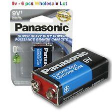 6 Wholesale 9V Bulk Lot Panasonic 9V Batteries Super Heavy Duty