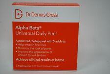 Dr. Dennis Gross Alpha Beta Universal Daily Peel 2 Step Peel 3 Treatments New