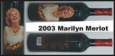 2003 MARILYN MONROE MERLOT Red Wine SEALED Collectible Celebrity MINT  *********