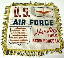 VTG WW2 Satin Pillow case sham Harding Field Baton Rouge US Army Air Force  - P4