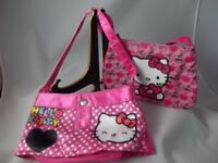 Hello Kitty Sanrio Lot of 2 Childs/Girls Small Pink  Shoulder Bags - Pre-owned