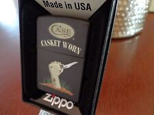 CASE XX KNIFE CASKET WORN ZOMBIE RUSSLOCK ZIPPO LIGHTER MINT IN BOX