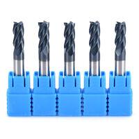 5x Tungsten Carbide 6mm x50mm 4 Flute End Mill CNC Milling Cutter HRC50 TIALN C#