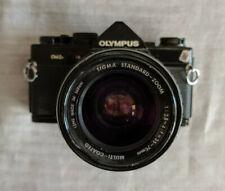 OLYMPUS OM-2N 35mm SLR Film Camera Black with Sigma 70mm Lens