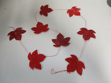 12 x Herbstgirlande Herbstblätter Herbst Dekoration Tischdeko Herbstdeko Basteln