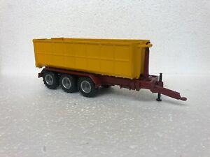 SIKU fortuna hook loader trailer with skip 1/32